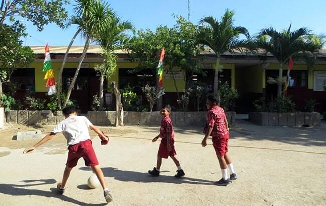 Aktivitas anak-anak SDK St Yoseph 04 Kupang sebelum pandemi Covid-19.