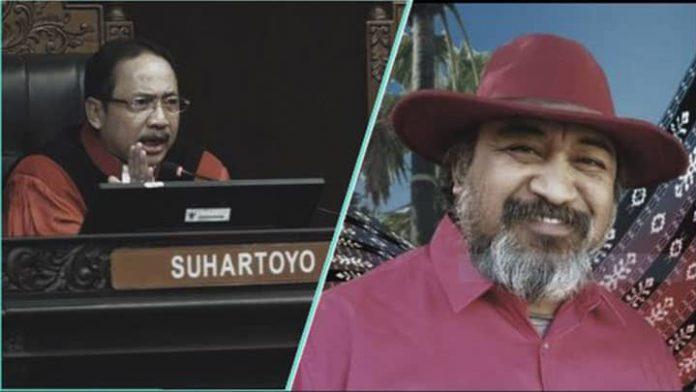 MK Suhartoyo (kiri), Oerient P Riwu Kore (kanan)