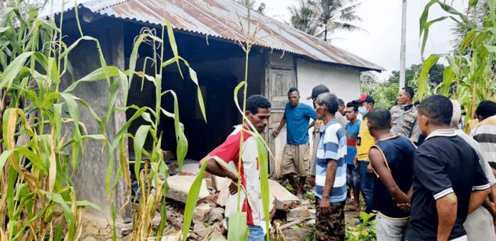 Rumah korban di Desa Fafinesu, Insana Utara, TTU, NTT.