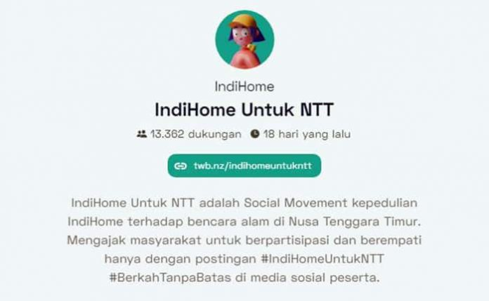 Mari kita bantu sesama lewat gerakan Indihome untuk NTT.