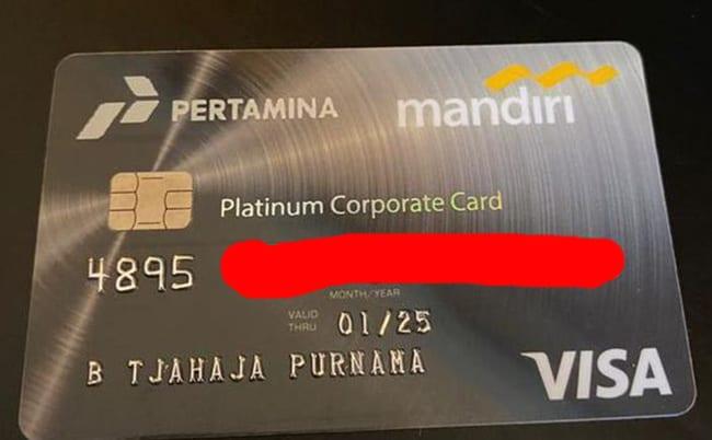 Kartu Kredit milik Ahok ini memiliki limit Rp 30 miliar.