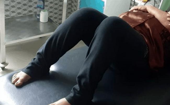 AA, korban penikaman sedang dirawat di Puskesmas nangaroro, Selasa (8/6/21)