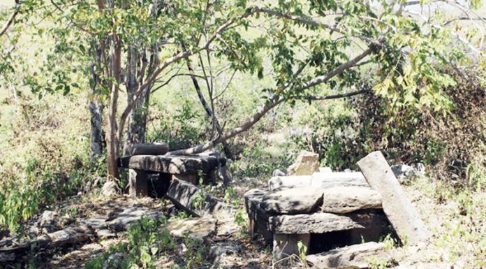 Batu Meja atau meja yang tebuat dari batu, satu diantara peninggalan purbakala yang masih ada di Desa Warloka.