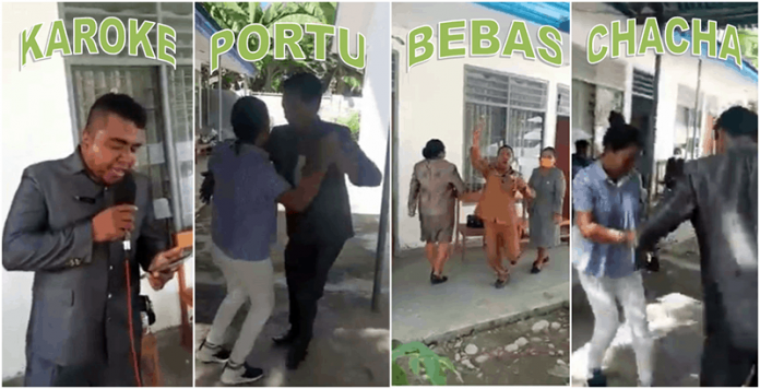 Cuplikan video viral 6 anggota dprd malaka pesta di kantor dprd