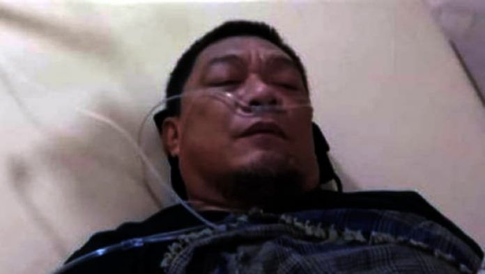 Yahya Waloni terbaring sakit memakai selang oksigen [Tangkapan layar Twitter]