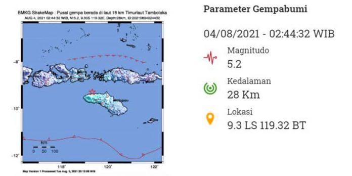 gempa bumi tambolaka